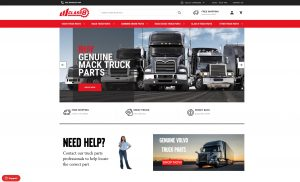 Class8TruckParts.com Home Page Screen Shot